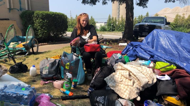 River Place resident Sarah Hodgkins in Windsor, Ont., on Thursday, Aug. 5, 2021. (Alana Hadadean / CTV Windsor)