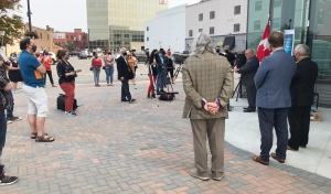 The federal government is providing $2.4 million for francophone organizations, including $1 million for Sudbury's Place des Arts. (Lyndsay Aelick/CTV News)