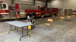 A pop-up COVID-19 vaccine clinic at a fire hall in Teeterville. (Natalie van Rooy/CTV Kitchener)