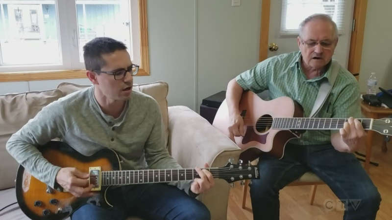 Father and son perform a Hank Williams classic