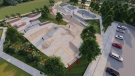 A rendering of the upcoming skate park and bike pump track is shown: (City of Victoria)