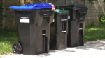 Waste bins are pictured on Thursday, August 5 (Katelyn Wilson/CTV News)