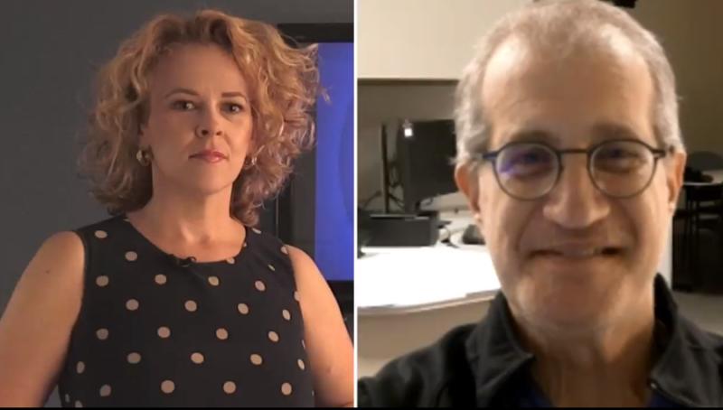 CTV's Siobhan Morris interviews Dr. Barry Nathanson from Stevenson Memorial Hospital on Thursday, August 5 (Siobhan Morris/CTV News)
