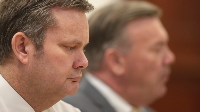 Chad Daybell listens during a hearing in St. Anthony, Idaho, Aug. 4, 2020. (John Roark/The Idaho Post-Register via AP, Pool)