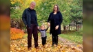 Doug MacDougall, 68 of Prince Edward Island, is seen here with his wife and grandson.