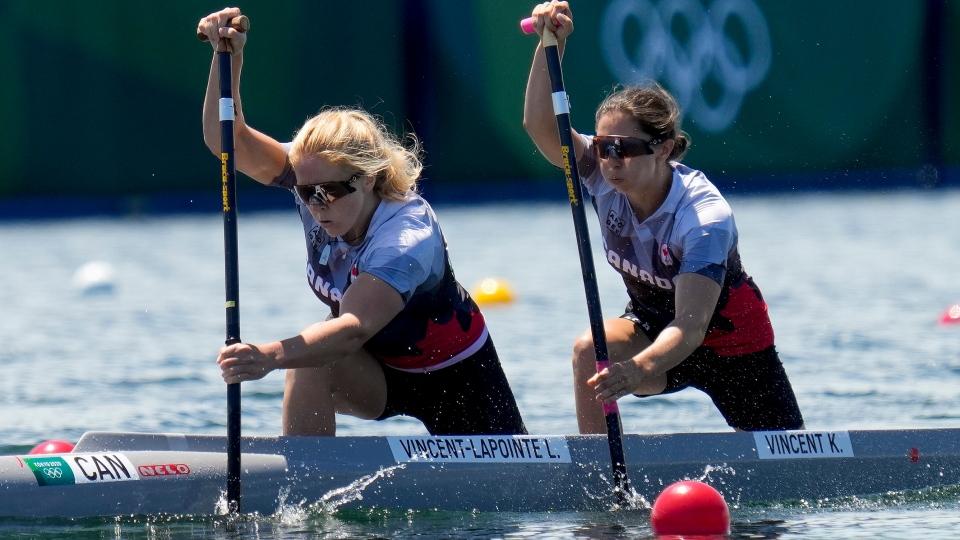 Canada's Laurence Vincent Lapointe, and Katie Vinc