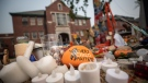 A rock with the message 'Every Child Matters' painted on it sits at a memorial outside the former Kamloops Indian Residential School, in Kamloops, B.C., on Thursday, July 15, 2021. (Darryl Dyck / THE CANADIAN PRESS)