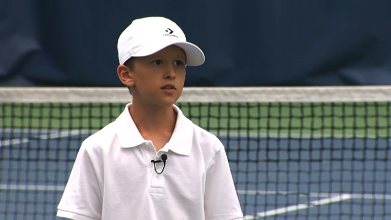 He's a tennis player with big plans and he's our Athlete of the Week, Alex Lovric