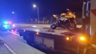 Ottawa police say nine drivers were charged with stunt driving Friday night. (Photo: OPS Traffic Unit / Twitter)