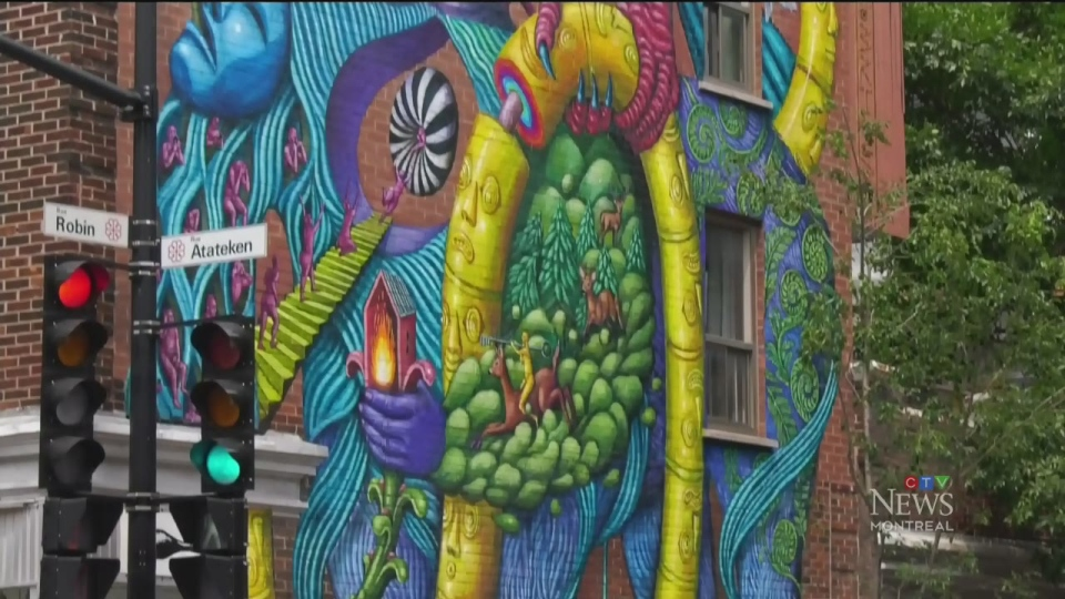 Mural highlights sibling relationships