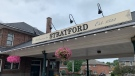The Stratford train station is seen here on Aug. 8, 2021. (Colton Wiens/CTV Kitchener)