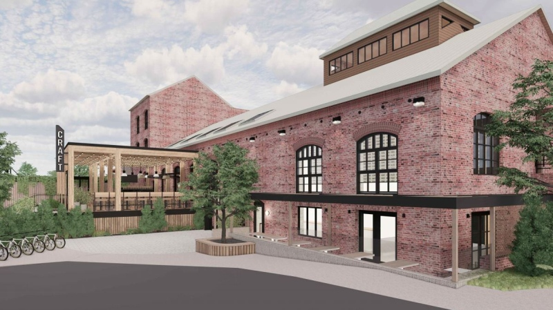 A rendering of the renovations is shown: (CRAFT Beer Market)