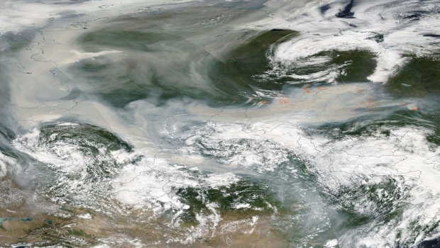Smoke from Siberian wildfires reaches North Pole for the first time in history