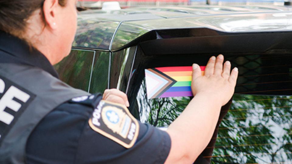 Patrol cars to include pride sticker