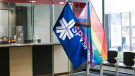 The SPVM rose Pride and LGBTQ+ flags Aug. 9 to coincide with the beginning of pride week in Montreal. SOURCE: SPVM.