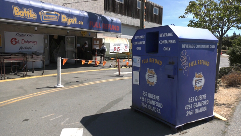 The Bottle Depot location at 3961 Quarda St. is shown: (CTV News)