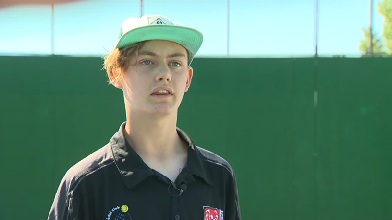 Sam Kundert is a rising star in padel ball. Now he's our Athlete of the Week. Glenn Campbell reports