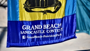 Manitobans from all over gathered for the first time since the pandemic at Grand Beach for its annual sandcastle competition. Source: John Schneider