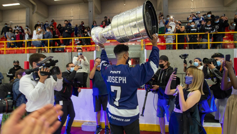 Mathieu Joseph and cup