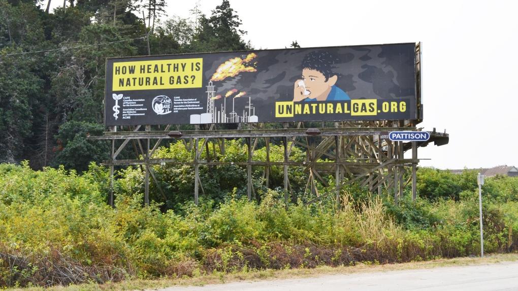 unnatural gas lng doctors billboard