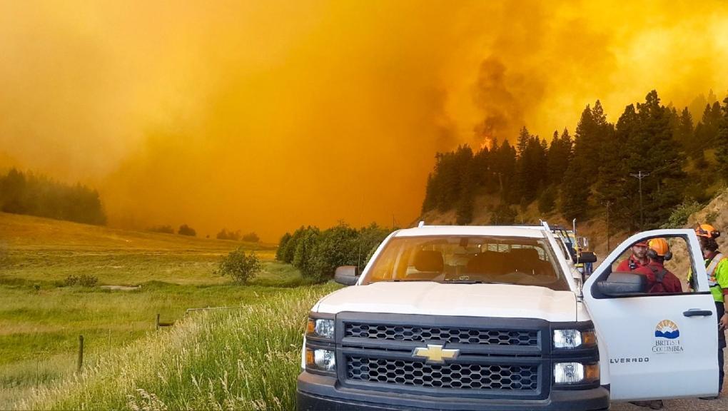 BC transportation wildfire photo
