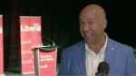 """""""We're not through with this pandemic yet,"""" re-elected Liberal MP Andy Fillmore told CTV News from his election headquarters Monday night, """"and we're not done getting big ticket items across the threshold like ten dollar a day daycare."""""""