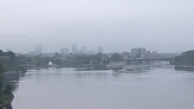 A foggy morning in Ottawa. Aug. 18, 2021. (Jim O'Grady / CTV News Ottawa)