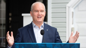 Conservative Leader Erin O'Toole makes an announcement on affordable housing Thursday, Aug. 19, 2021 in Ottawa. THE CANADIAN PRESS/Ryan Remiorz