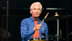 Rolling Stones drummer Charlie Watts performs at the Rose Bowl, Thursday, Aug. 22, 2019, in Pasadena, Calif. Watts died in London on Tuesday, Aug. 24, 2021 at age 80. (AP Photo/Chris Pizzello, File)