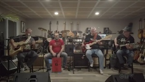 Watch the Temiskaming Shores band, The Mud Dogs, cover a popular song from The Tragically Hip.