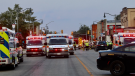 Emergency services on scene of an explosion in Wheatley, Ont., August 26, 2021. (Source: @_OnLocation_ / Twitter)