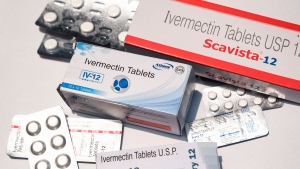"""The Arkansas Medical Board investigates after a doctor said he prescribed an anti-parasitic drug Ivermectin, pictured here, in India on May 19, """"thousands"""" of times for treatment of COVID-19, including to inmates in an Arkansas jail."""