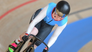 Canadian Kate O'Brien competes in the 500m Time Trial at the Tokyo Paralympics, on Aug. 27, 2021. (Source: Canadian Paralympic Committee)