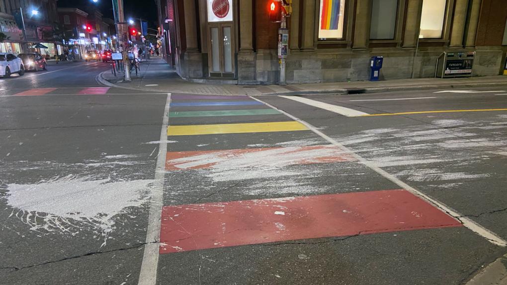 Pride Crosswalk Ottawa paint