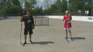 Ball hockey featured in Explore the Outdoors