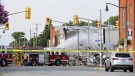 The aftermath of an explosion in Wheatley, Ont. on Thursday, Aug. 26, 2021. (Source: Municipality of Chatham-Kent)