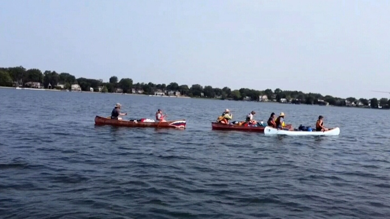Guelph family canoeing to the Atlantic