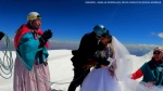 This Bolivian couple chose the summit of Mount Illimani to wed, with the ceremony ending a 3-day hike for the mountain lovers.