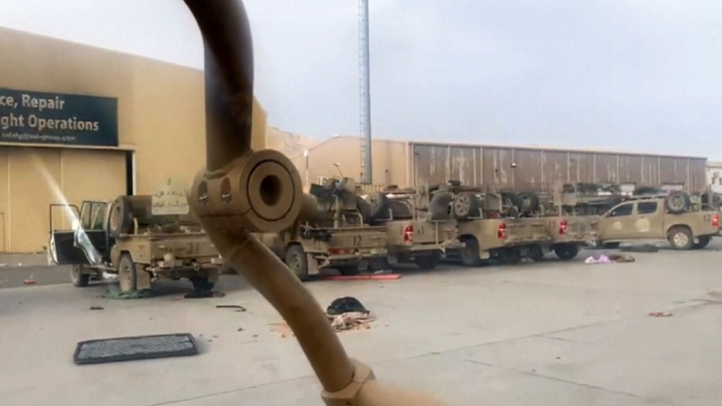 Video shows abandoned vehicles at Kabul airport
