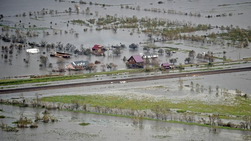Aerial of Hurricane Ida damage in southeast Louisiana, Tuesday, Aug. 31, 2021. (Hilary Scheinuk/The Advocate via AP, Pool)