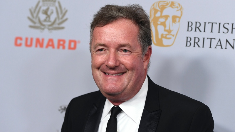 In this Friday, Oct. 25, 2019 file photo, Piers Morgan arrives at the BAFTA Los Angeles Britannia Awards at the Beverly Hilton Hotel in Beverly Hills, Calif. (Photo by Jordan Strauss/Invision/AP, file)