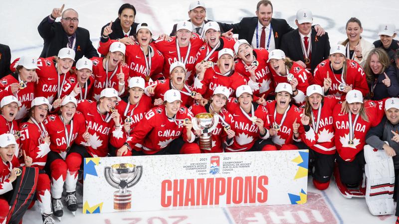 Canada wins women's World Hockey Championship