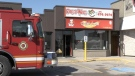 London fire crews respond to Ring-A-Wing at 666 Wonderland Rd. N. on Wednesday morning, Sept. 1, 2021. (Jim Knight / CTV London)