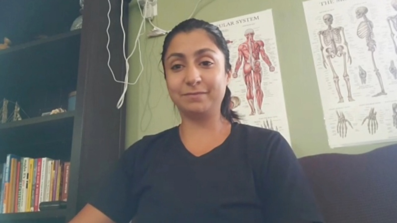 Hibah Auon says she could never, in good conscience, forcibly turn someone away from a gym because they're not vaccinated. (Sanjay Maru/CTV News)