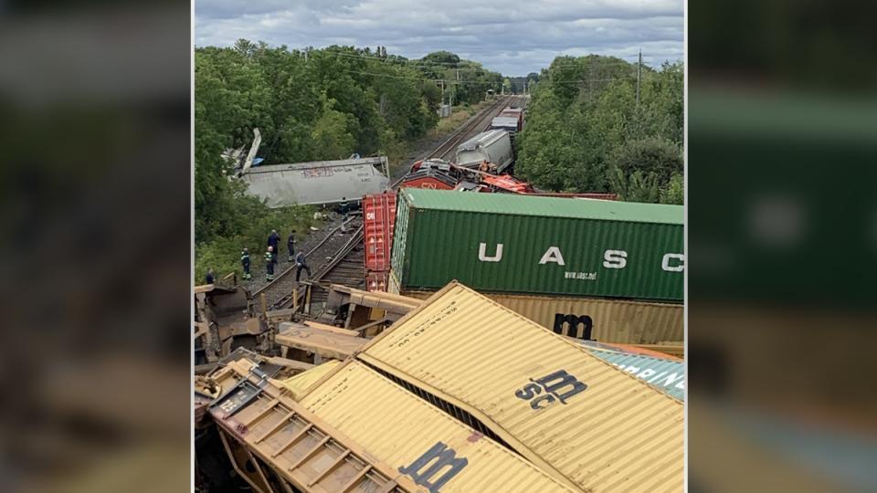 CN train collision in Prescott