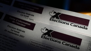An Elections Canada voter information card is shown on Tuesday, Aug 31, 2021. Canadians will go to the polls for the federal election on Monday, September 20, 2021. THE CANADIAN PRESS/Sean Kilpatrick