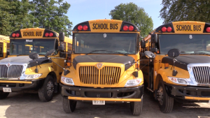 School buses in Huron-Perth and Grey-Bruce are are ready to hit the road on Sept. 7. (Scott Miller / CTV London)