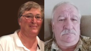 Greg Fertuck, right, is charged with first-degree murder in connection to his estranged wife's disappearance and death.