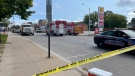 Many roads remain blocked in downtown Wheatley, Ont., on Friday, Sept. 3, 2021. (Melanie Borrelli / CTV Windsor)
