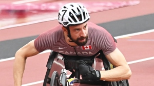 Canada's Brent Lakatos competes in 2020 Paralympic Games in Tokyo, Aug. 31, 2021. THE CANADIAN PRESS/HO-Canadian Paralympic Committee/Scott Grant
